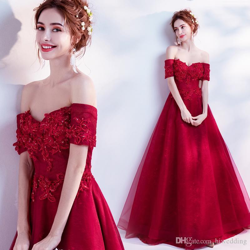 f3733a8295fa4 Satın Al 2018 Kırmızı Dantel Vintage Abiye Sevgiliye Boncuklu A Line  Gelinlik Modelleri Ucuz Lace Up Örgün Parti Törenlerinde, $85.43    DHgate.Com'da