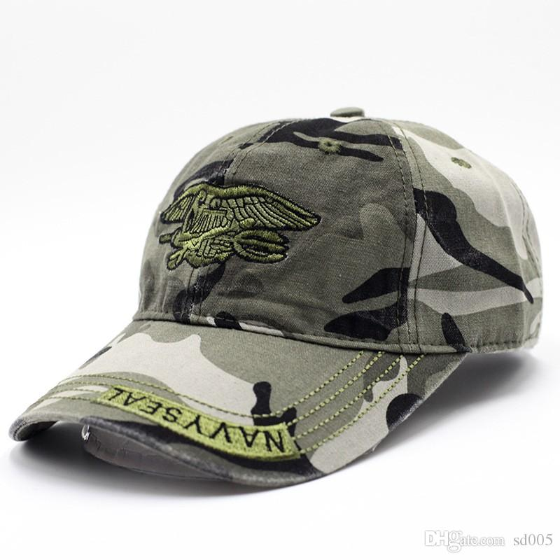 2ac6dbb1c1cab ... new style for men and women navy seal cap camouflage embroidery  washable designer hats fashionable outdoor