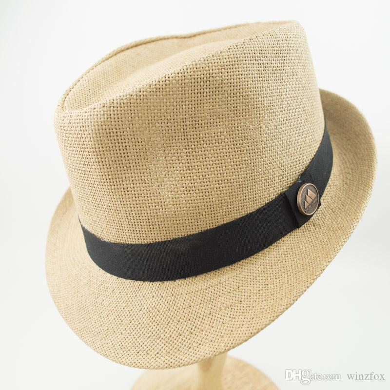 d808ac357f6 2019 EPU MH1821 Double Layer Paper Straw Mens And Womens White Stingy Brim  Best High Quality Trilby Fedora Jazz Hat From Winzfox
