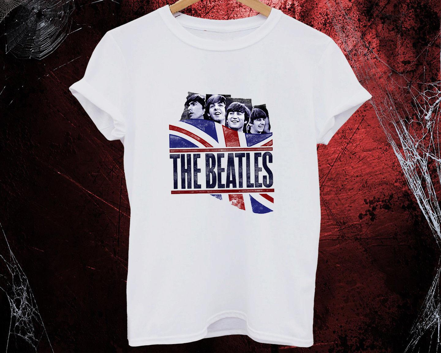 e536d1d9a The Beatles T Shirt English Rock Band Men Women Kids Tattoo Art Souvenir  Gifts Funny Unisex Casual Funny T Shirts For Sale Awesome T Shirt Design  From ...