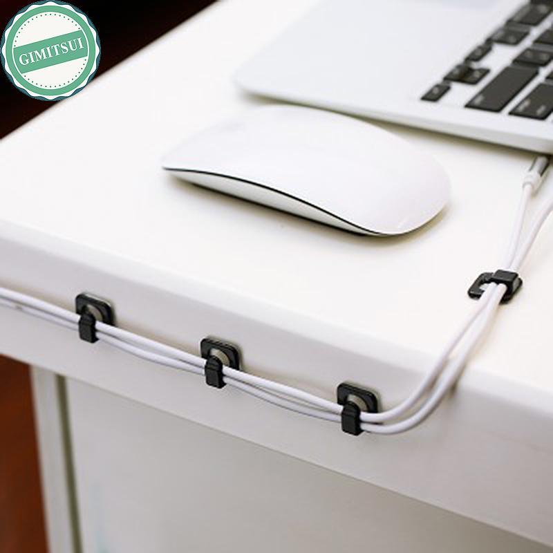 Cable Cord Wire Line Organizer Clips Fixer Fastener Tidy Holder Desk ...