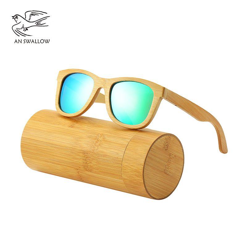 028e93aa1a799 AN SWALLOW New 100% Real Zebra Wood Sunglasses Polarized Handmade Bamboo  Mens Sunglass Sun Glasses Men Gafas Oculos De Sol Mader Mirror Sunglasses  Boots ...