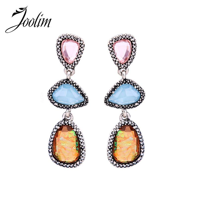 Joolim Fashion Red Earring Hot Tassel Dangle Earring Cocktail Jewelry Wholesale High Quality Earrings
