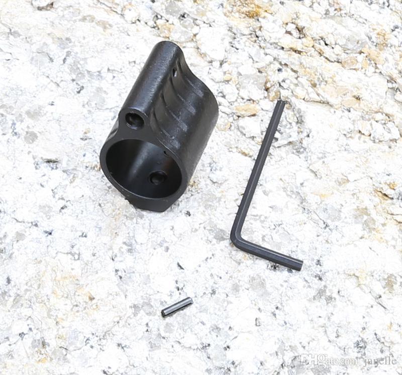NEW .750 556 5.56 223 Steel Low Profile Micro Rifle Gas Block + Roll Pin