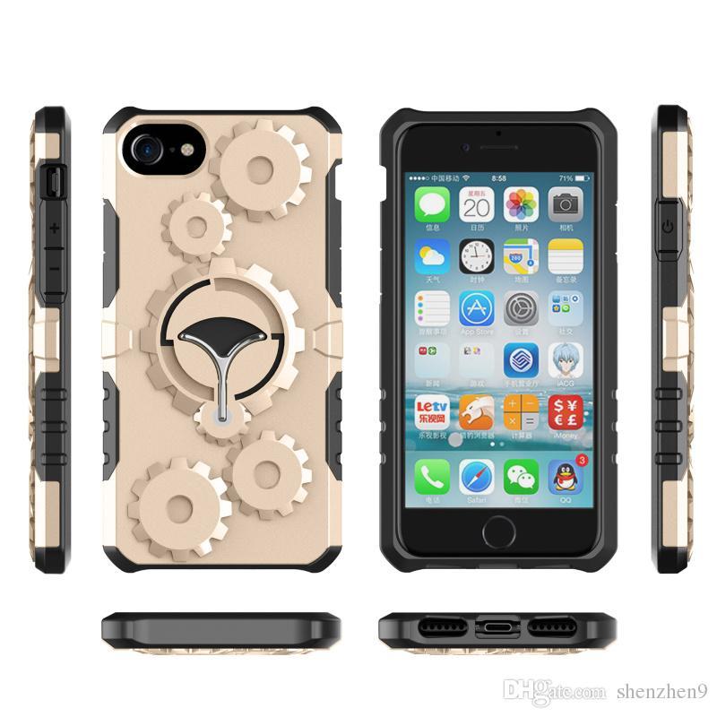 Samsung Galaxy S8 Cover Nuovo Gear Armor Case con funzione Stent Soft TPU + Hard Plastic Mobile Phone Band Band SCA396