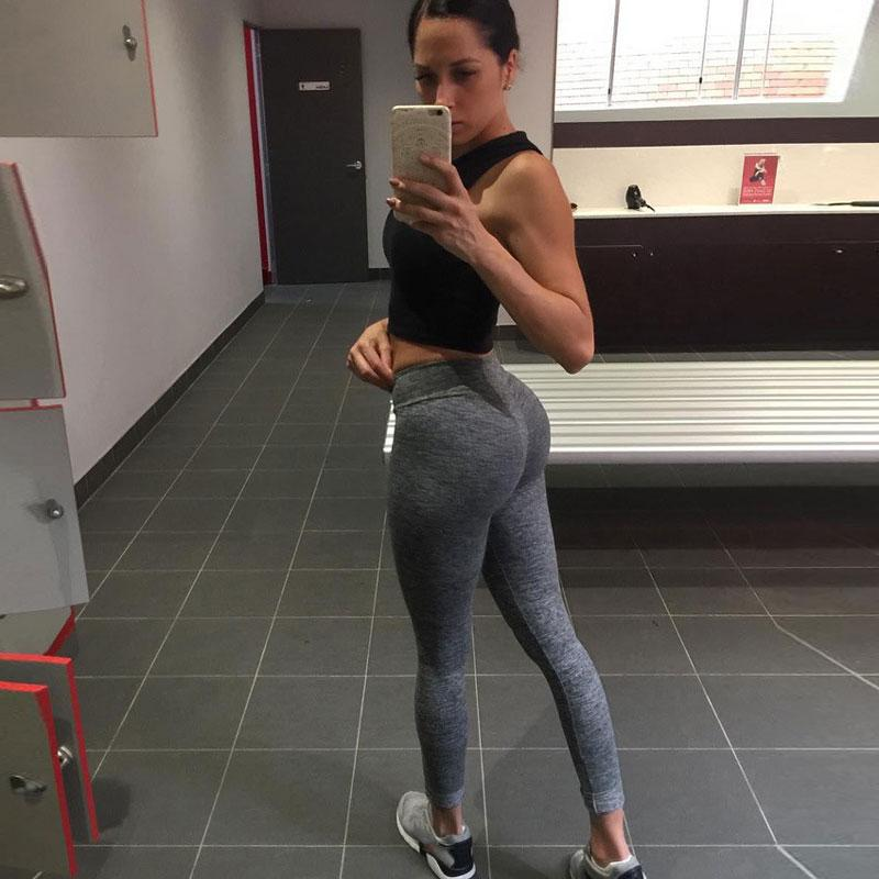 3a0d7c12f5d763 2019 Women Elastic Hip Push Up Leggings Black Grey Light Gray Skinny New  Arrival Ladies Plain Elastic Waist Color Pants From Kaseller, $28.35 |  DHgate.Com