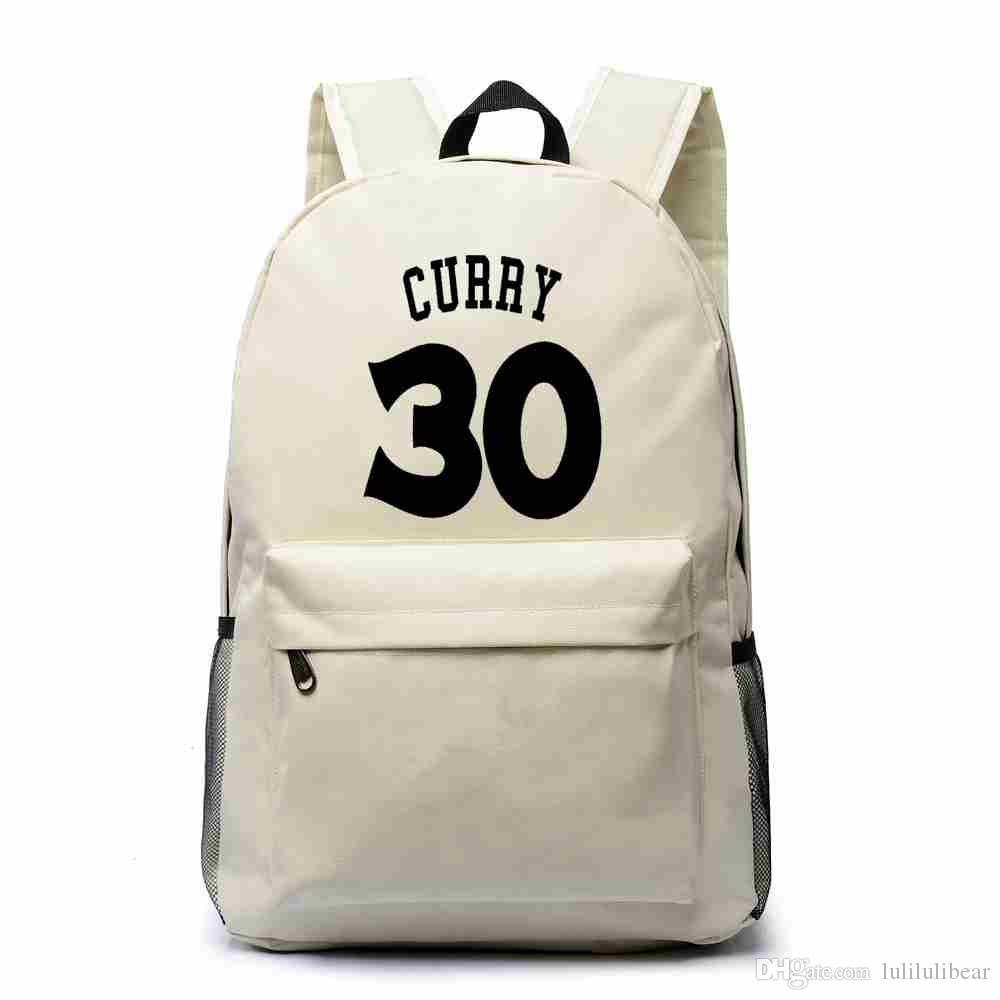 Stephen Curry Canvas Backpack Teenagers Basketball Backpacks Boy ... b577deb0b9