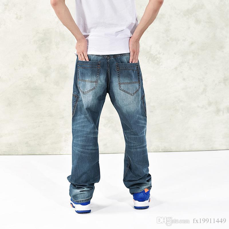 England Style 2018 New Casual Design Denim Hip Hop Baggy Jeans Men Distressed Plus Size 30 42 44 46
