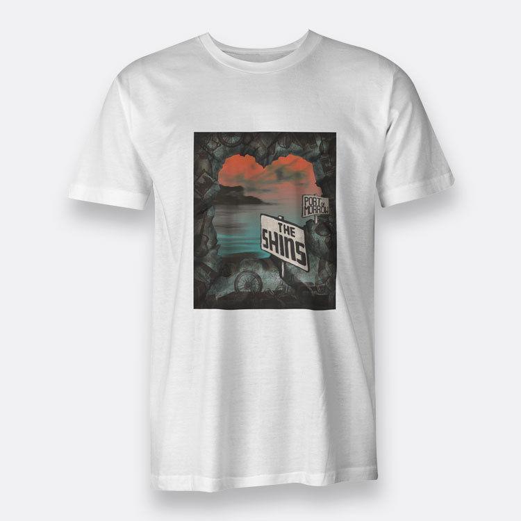 042f3029e04e Port of Morrow The Shins Camiseta blanca para hombre Camiseta S-3XL Estilo  de diseño Nueva moda Manga corta