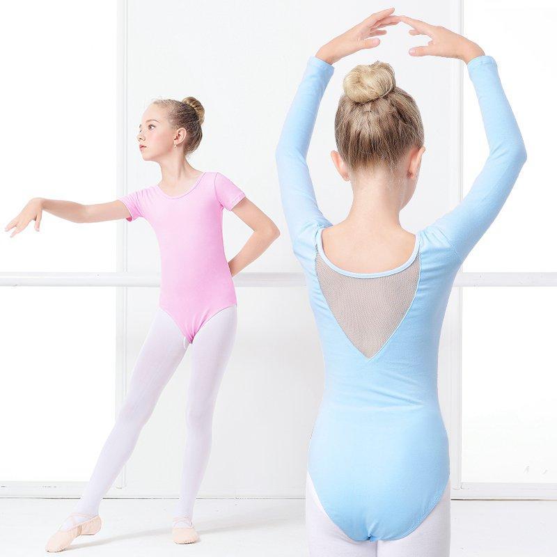 4f03311d4 2019 Short/Long Sleeve Ballet Gymnastics Leotard F Dance Girls Bodysuit  Dance Leotard Ballerina Mesh Clothes Kids Unitard Dancewear From  Hongkonglady, ...