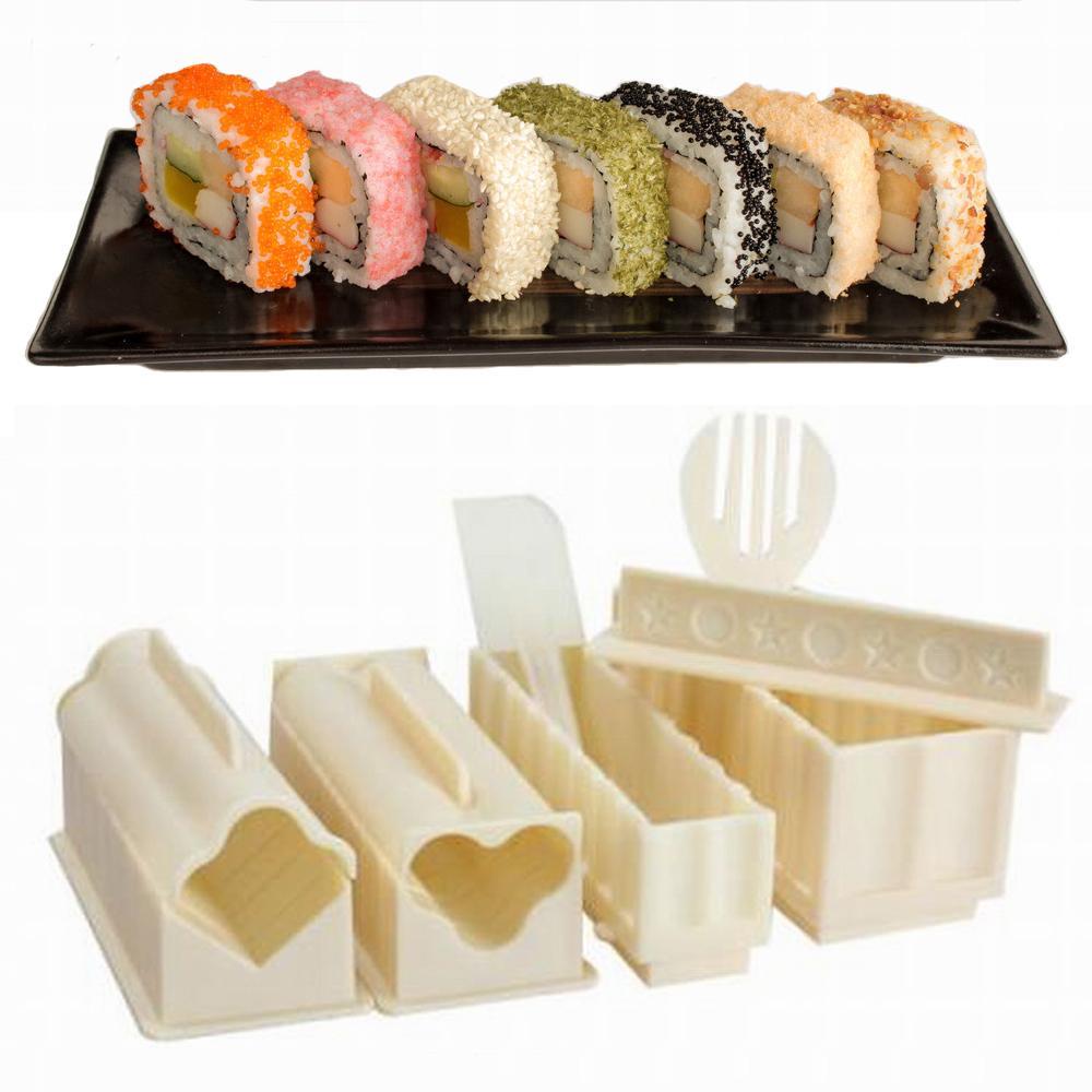 Acquista Sushi Maker Kit Rotolo Di Riso Stampo Da Cucina Fai Da Te ...