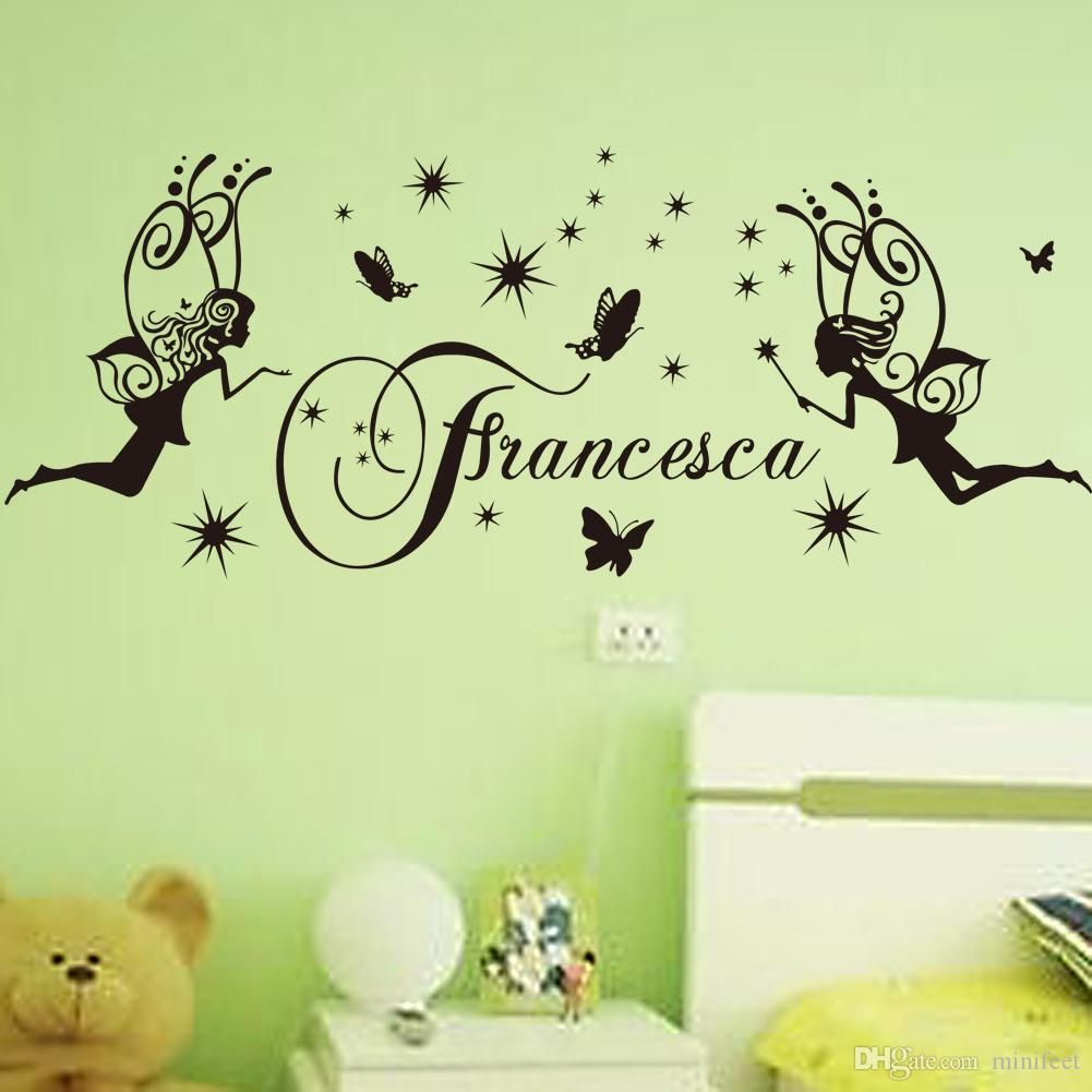 Angel Stars Butterfly Wall Stickers Arts Decals Pvc Waterproof Self ...