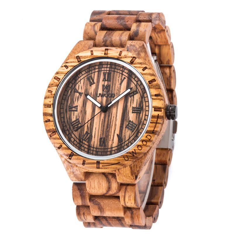 Fashion Men S Wood Watch Brands Luxury Quartz Wristwatches Multifunction Waterproof Watches Free Shipping Sale
