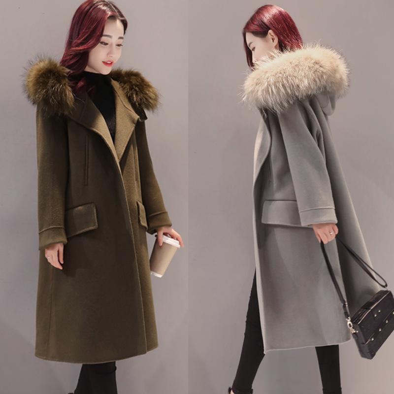 53545a78a0d3 Großhandel Koreanische Ausgabe 2017 Herbst Winter Mode Frauen Wollmantel  Mittellange Dünne Weibliche Maxi Mantel Winter Wollmischungen Outwear Von  Longmian, ...