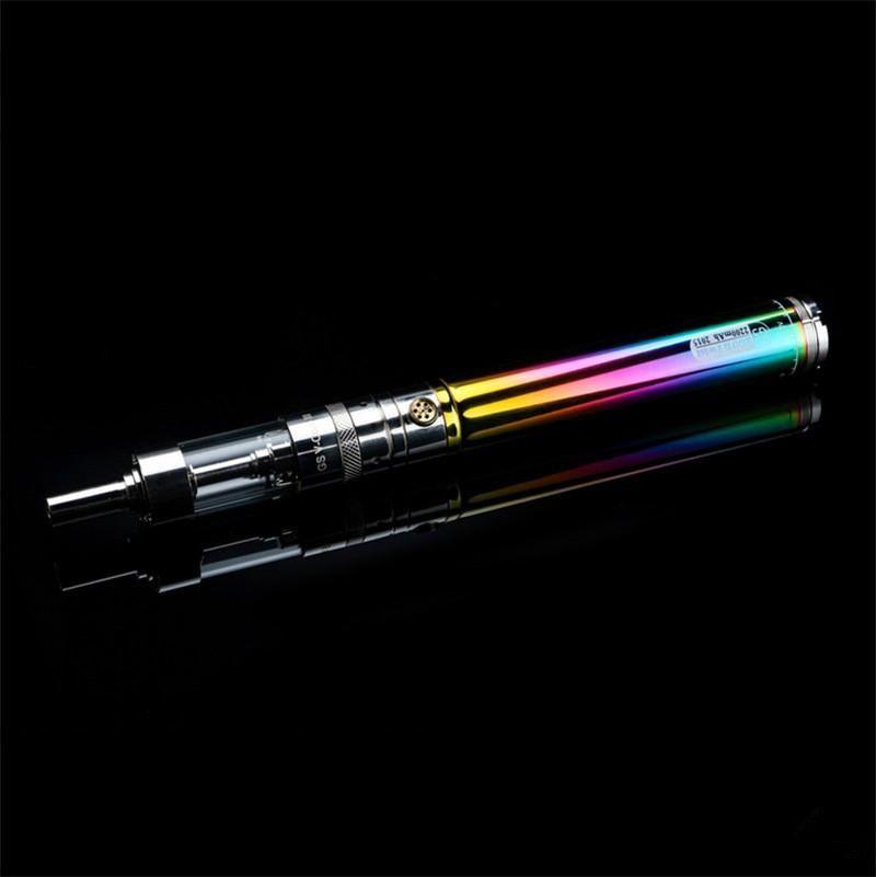 GS Ego II Twist Mega Kit Rainbow Ecigarette with Vape 3.3V-4.8V Variable Voltage 2200mAh battery V-Core III 3ml Glass Tank atomizer
