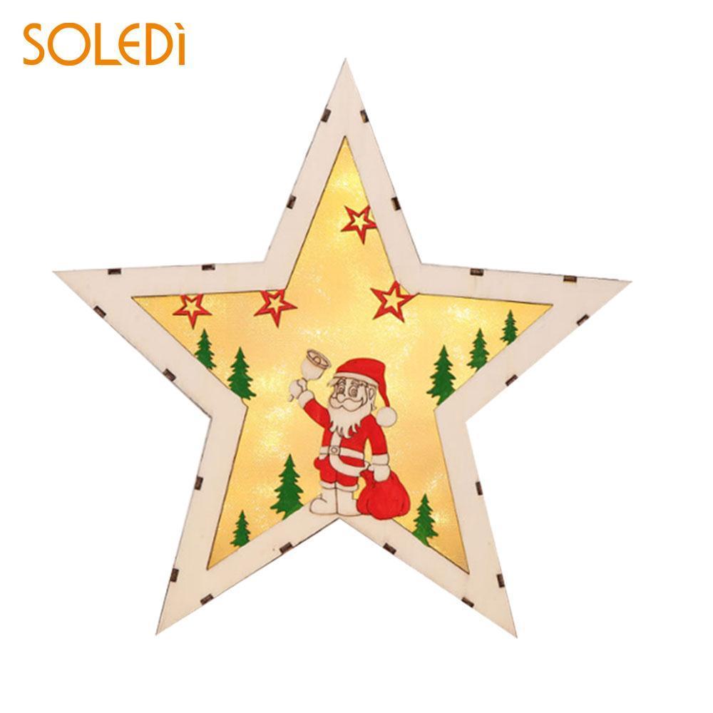 Großhandel Led Plakette Zeichen Weihnachtsdekoration Leuchtende ...