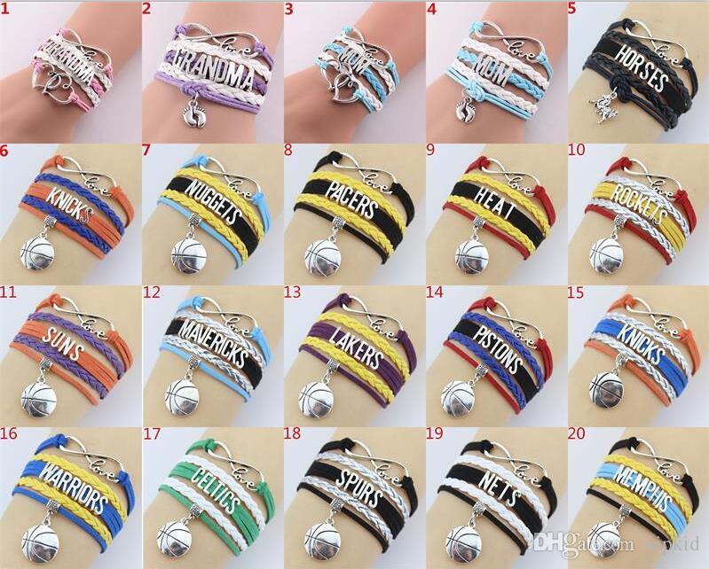 Fashion Accessories Jewelry Vintage Handmade Hand-Knit LOVE8 Words Believe  Dream Multi-layer Combined Bracelet Weaving Bracelet V 001