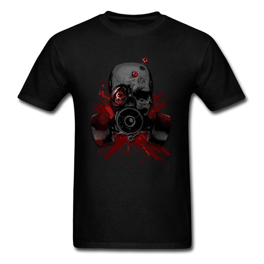 T-shirts Gas Mask Skull Mens Black T-shirt Quality T Shirts Men Printing Short Sleeve O Neck Tshirt Tops Tees Printed Men T Shirt Back To Search Resultsmen's Clothing
