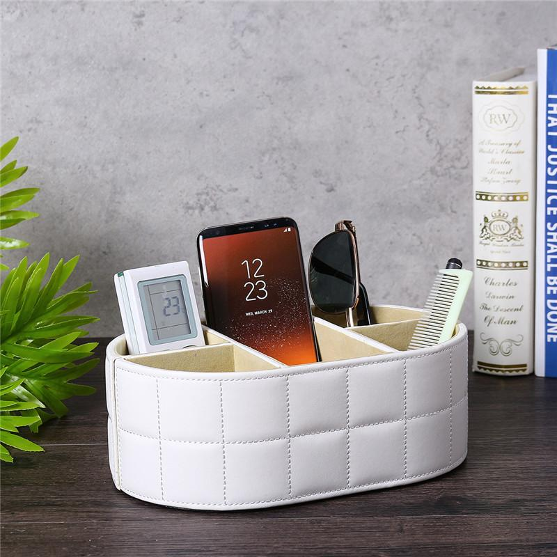 2018 Leather Boxes Tv Remote Control Storage Box Living Room Table  Organizer Functional Storage Phone Key Pen Glasses Stand Holder From  Jiguan, ...