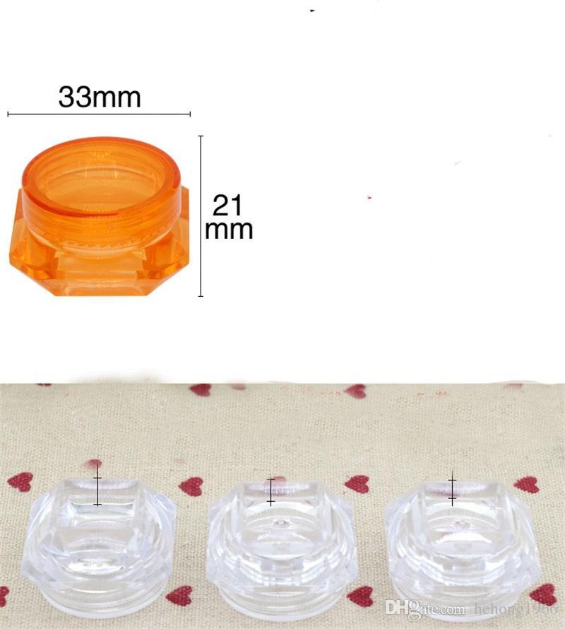 Scatola di immagazzinaggio del balsamo di labbro della crema di fronte vuota di plastica trasparente variopinta Contenitore di vaso del dispositivo cosmetico mini il viaggio all'aperto 0 11ym Z