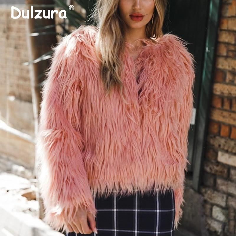 5521587e2fc 2019 Plus Size 4XL Women Purple Faux Fur Coat 2018 Winter Jackets Coats  Women Shaggy Fluffy Streetwear Girls Fake Fur Coat D18110805 From Shen8403