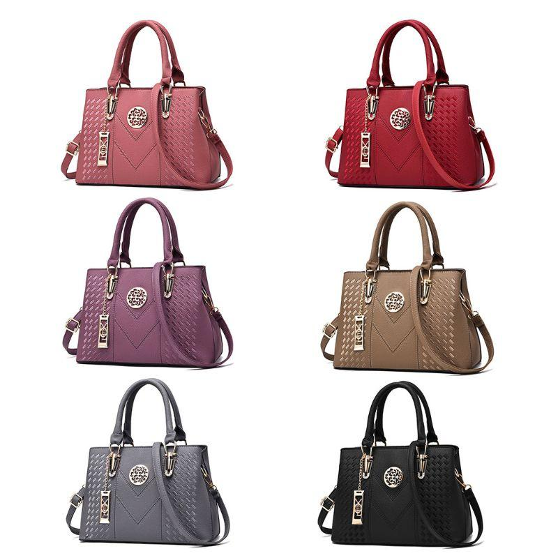 Women Leather Large Handbag Shoulder Bag Lady Purse Messenger Satchel Crossbody