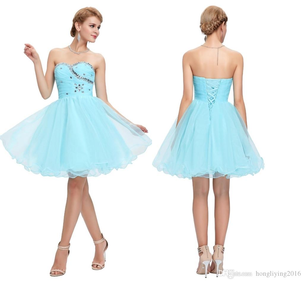Grace Karin Sweetheart Short Party Dresses Pink Blue Black White ...