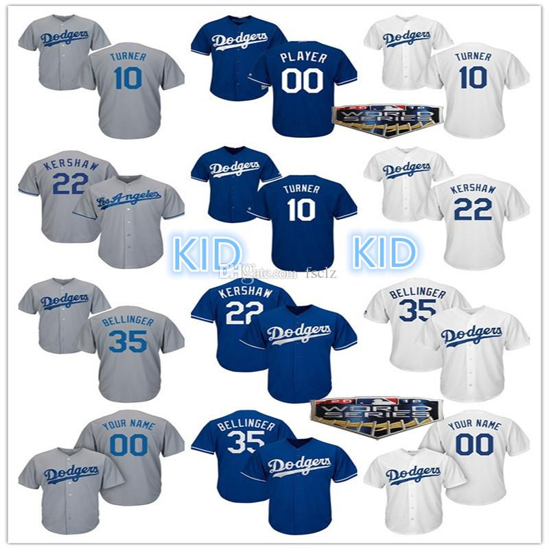 online retailer 5032d e68a2 Kid Los Angeles Dodgers 2018 World Series Steve Justin Turner Corey Seager  Manny Machado Yasiel Puig Matt Kemp 2018 LA Youth Baseball Jersey