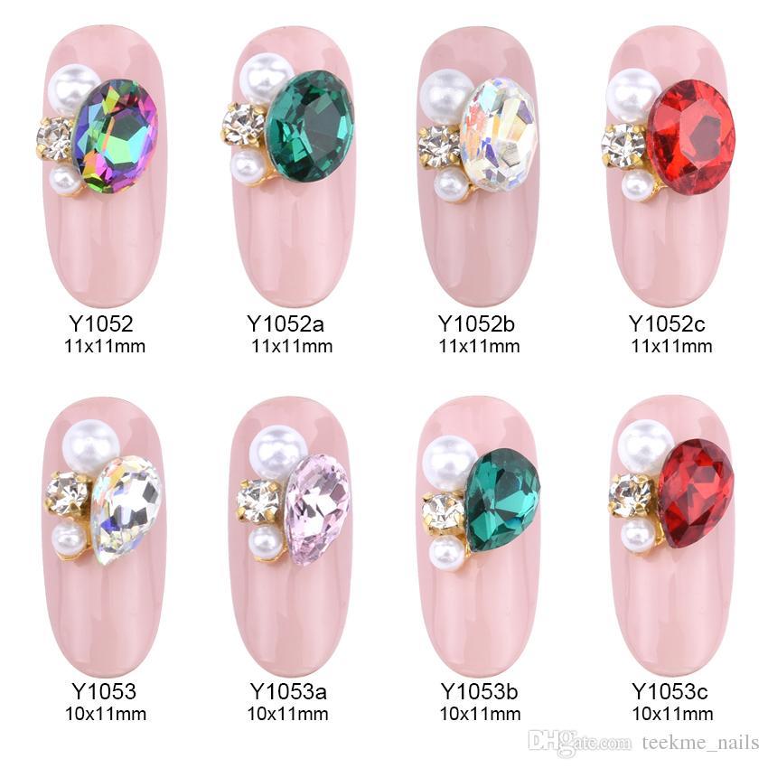 3d Nail Jewelry Alloy Nail Art Strass Crystal Rhinestone ...