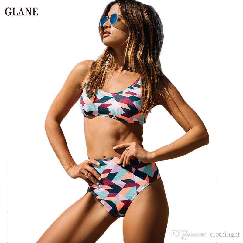 9eb29878ff 2019 2018 Big Size Women Swimwear Print Bikini Swimsuit Monokini Padded  Bikini Tankini XXL Big Size Women Beach African Swim Suits From Clothinght