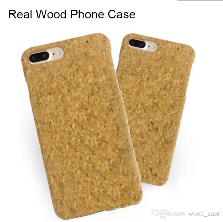 new products 262a2 fb9b4 Real Wood Case Cork Phone Cover For Iphone 7 8 plus 6 6s X 10 Fashional  Wooden Cell phone Cover Mobile Cases Shockproof
