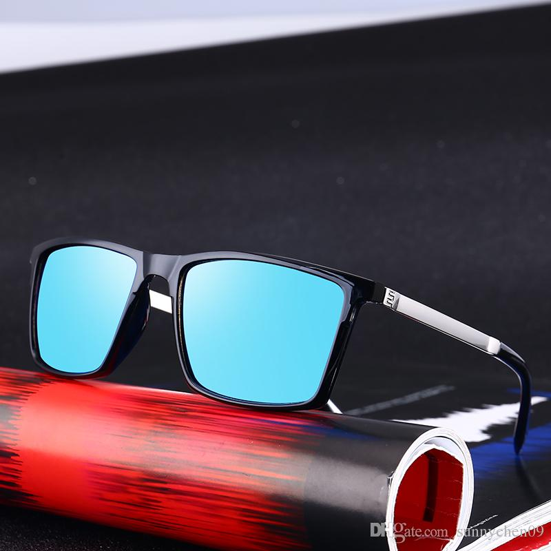 01483cb5e4 Cheap High Quality Fashion New Retro Men s Sunglasses Polarized Square Spectacles  Sunglasses Trends Men Retro Round Outdoor Driving UV400 2140B
