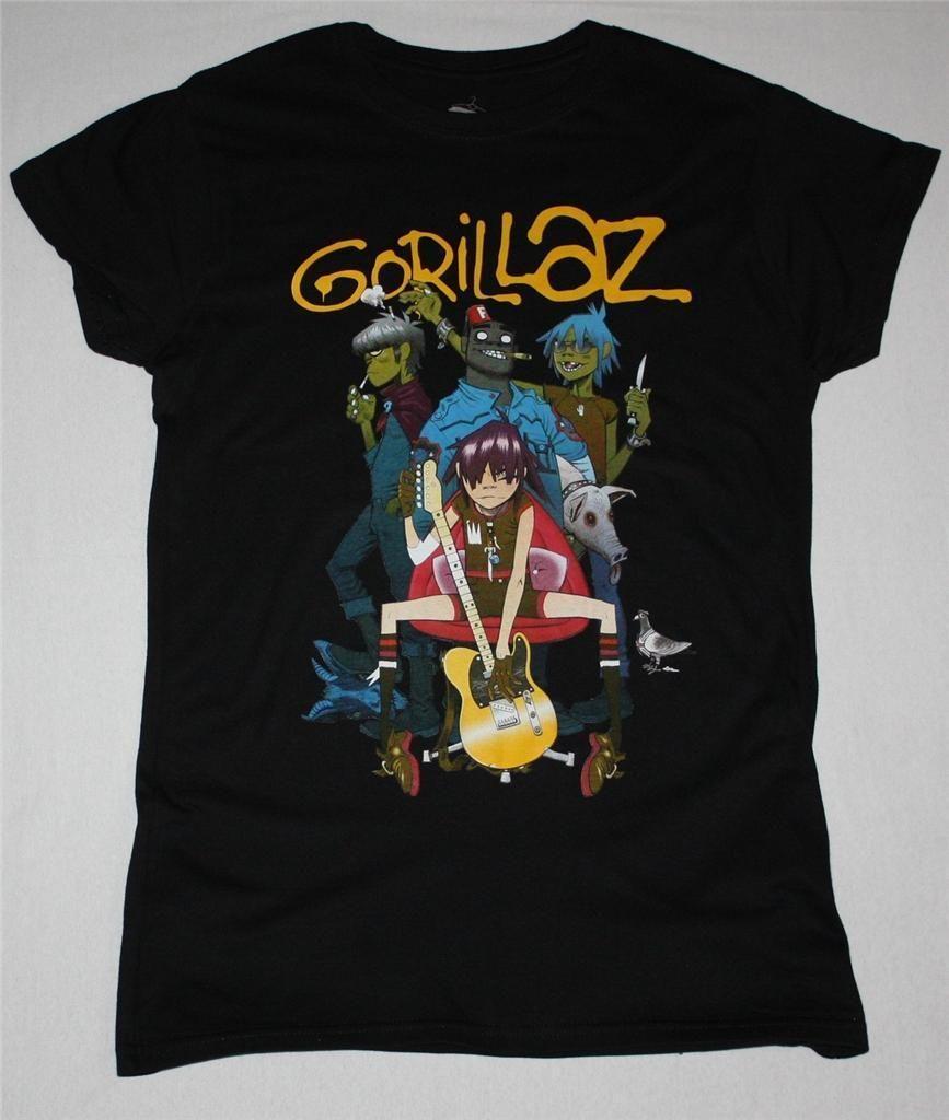 2018 Crossfit T Shirts GORILLAZ ALTERNATIVE BRIT BLUR NEW BLACK LADY  T-SHIRT Hip-Hop Casual Clothing