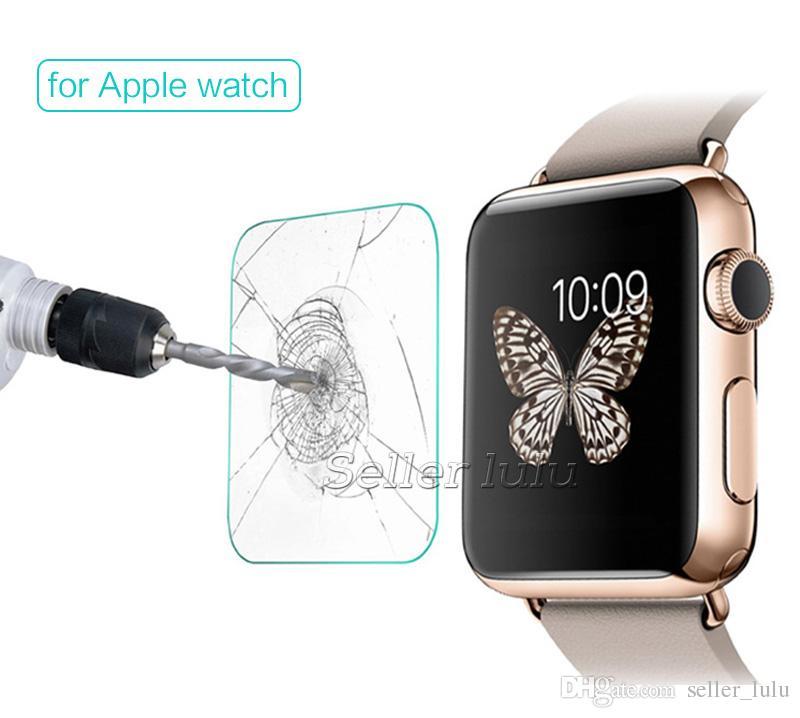 Für 38mm / 42mm Apple Watch 0.2mm 2.5D 9H gehärtetes Glas Iwatch Flim Displayschutzfolie mit Retalverpackung