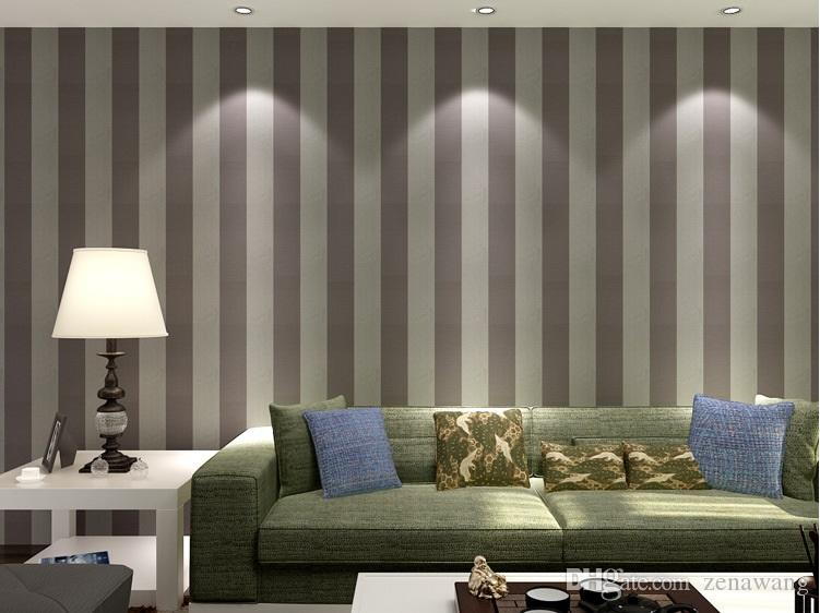 Modern black and white living room TV background wall sofa bedroom office wallpaper vertical stripes non-woven wallpaper