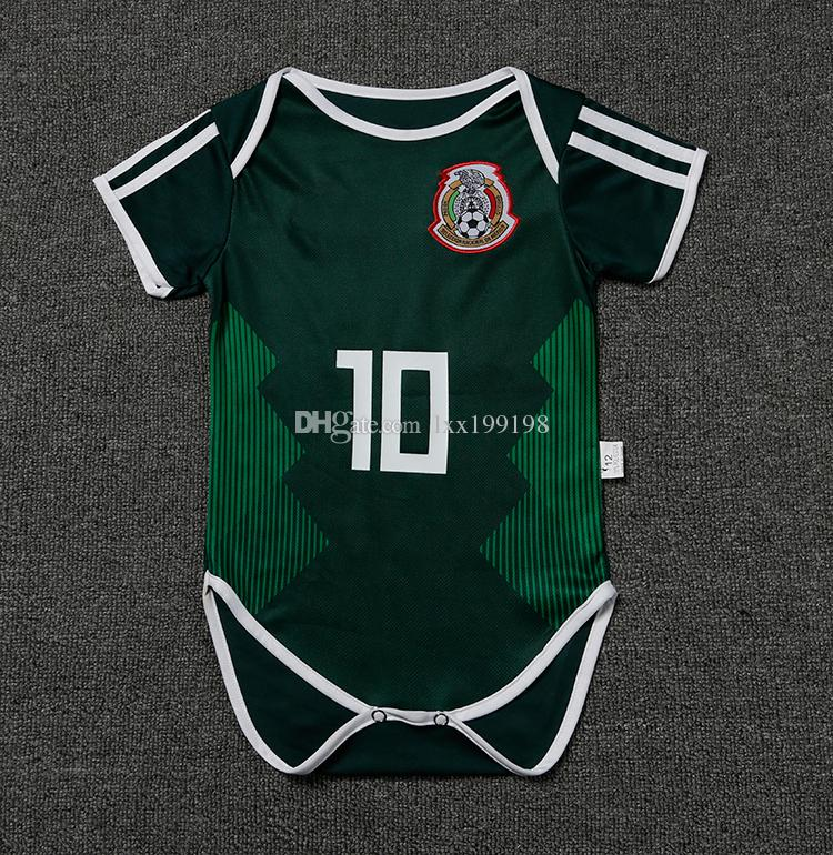 2019 2018 New Arrival Sale Xxs Baby Mexico Soccer Jersey World Cup Infant  14 Chicharito 10 Dossantos Football Clothes Kids Kit 9 18 Months Shirt From  ... b29c1abb204