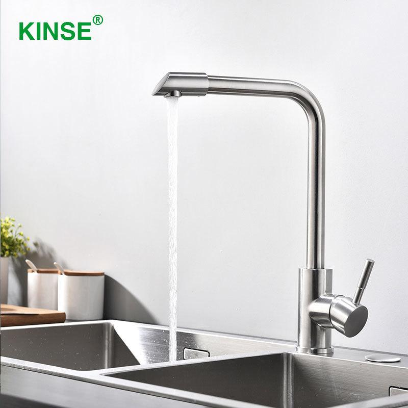 2018 Kinse High Quality Stainless Single Hole Single Handle Faucets ...