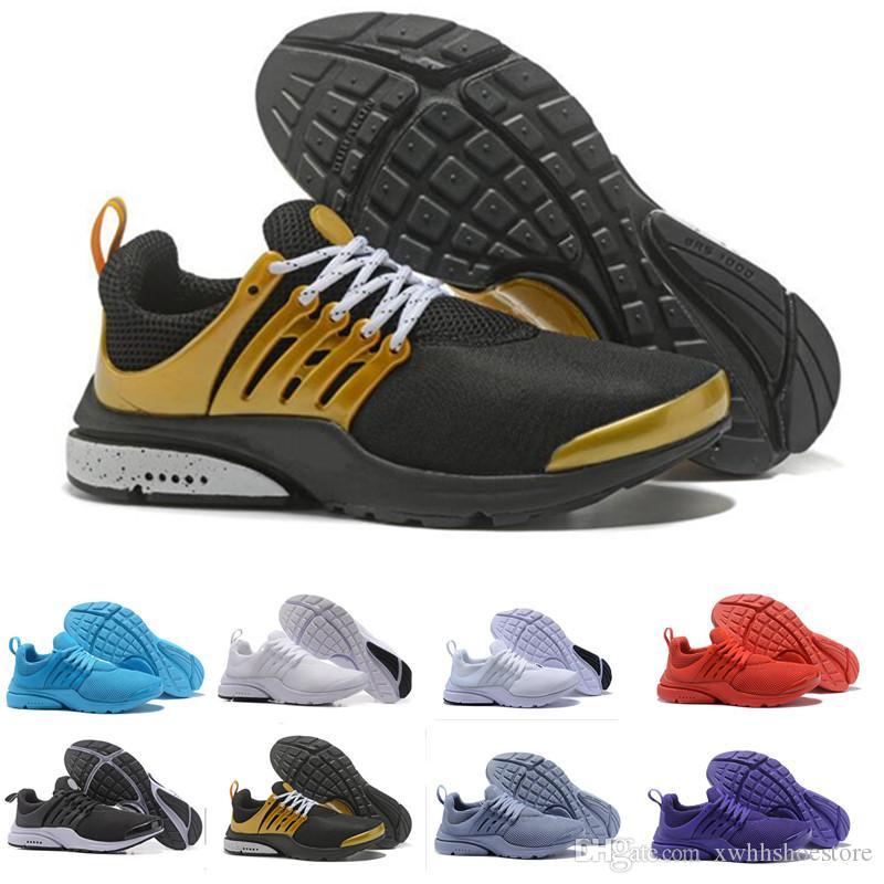 Compre Nike Air Presto Ultra QS Breathe Amarillo Negro Blanco Hombre Prestos  Zapatos Zapatillas De Deporte Mujer d8c5fa54f80