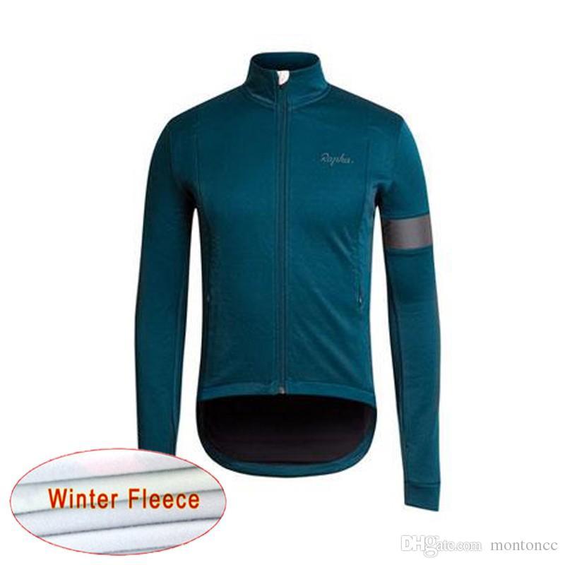 RAPHA equipe Ciclismo Inverno Térmica Velo jersey Top Venda de Inverno Dos Homens À Prova de Vento Roupas de Bicicleta Quente c1922