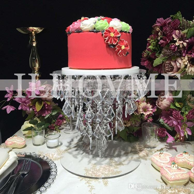 Round Acrylic Crystal Wedding Cake Stand Flower Stand Wedding