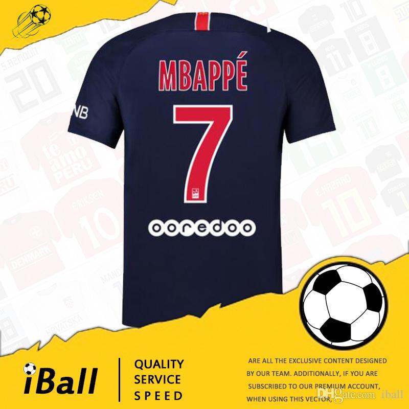 Camisetas De Fútbol Paris Saint Germain 2018 2019 Camiseta De Fútbol PSG  Camiseta De Maillot Camiseta De DANI ALVES Jersey Cavani Verratti MBAPPE  Cavani Di ... c43f97a406e4d