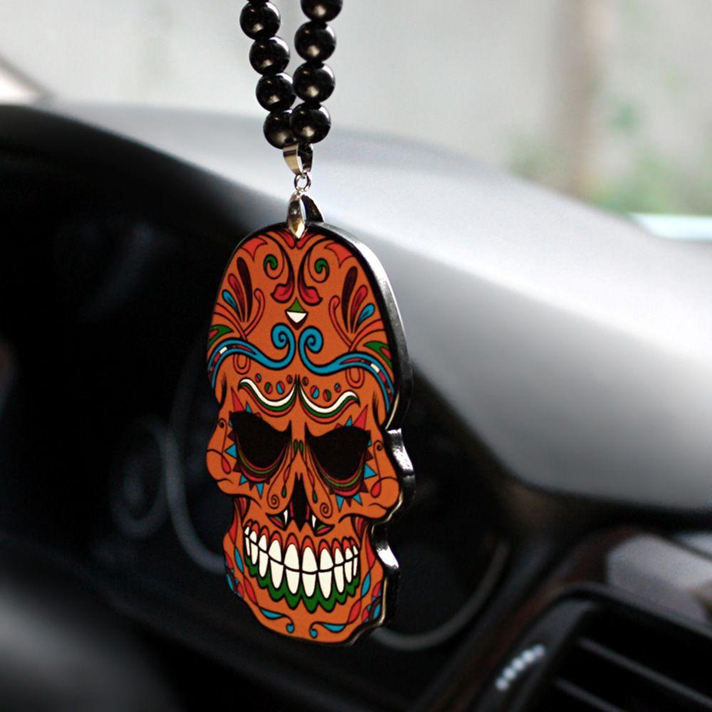 Car Pendant Flower Skeleton Skull Totem Jdm Hip Hop B Box Automobile