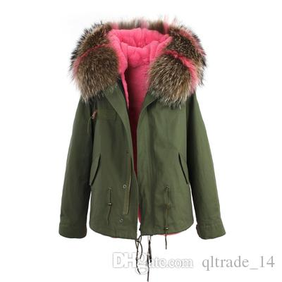 2018 snow coats Jazzevar brand White raccoon fur trim rabbit fur lining Camouflage shell jackets fur parkas Australia new Zealand