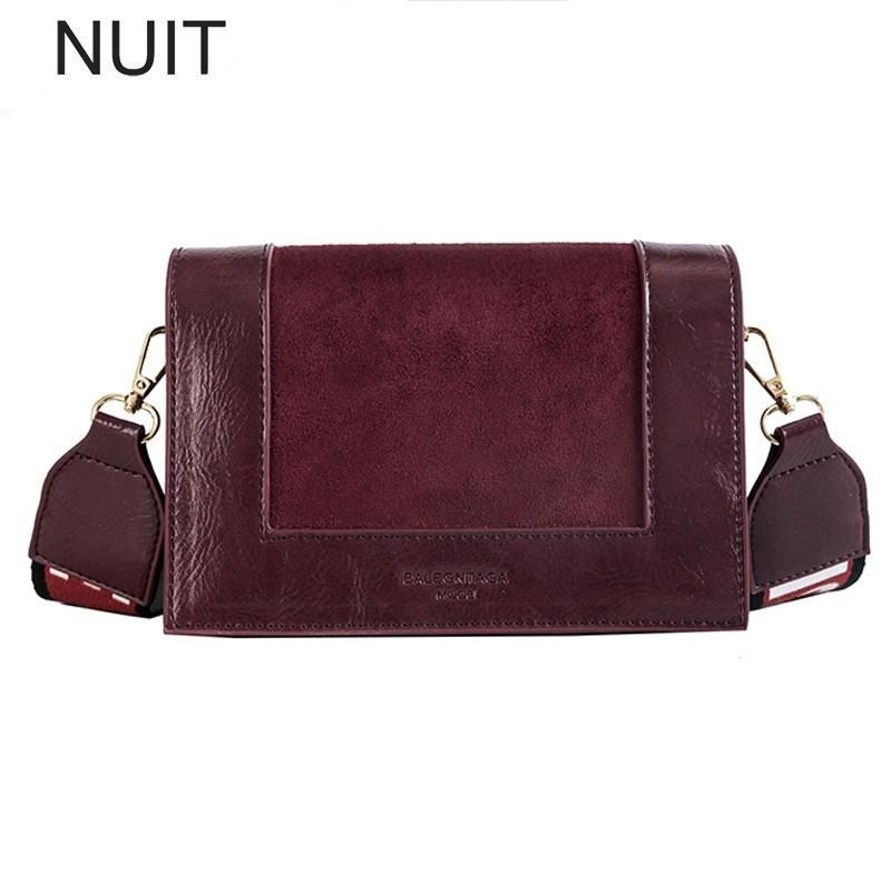 Woman Luxury Handbags Women Bags Designer Wide Strap Letter Korean Style Pu Leather Camera Shoulder Bags Brand Messenger Bag