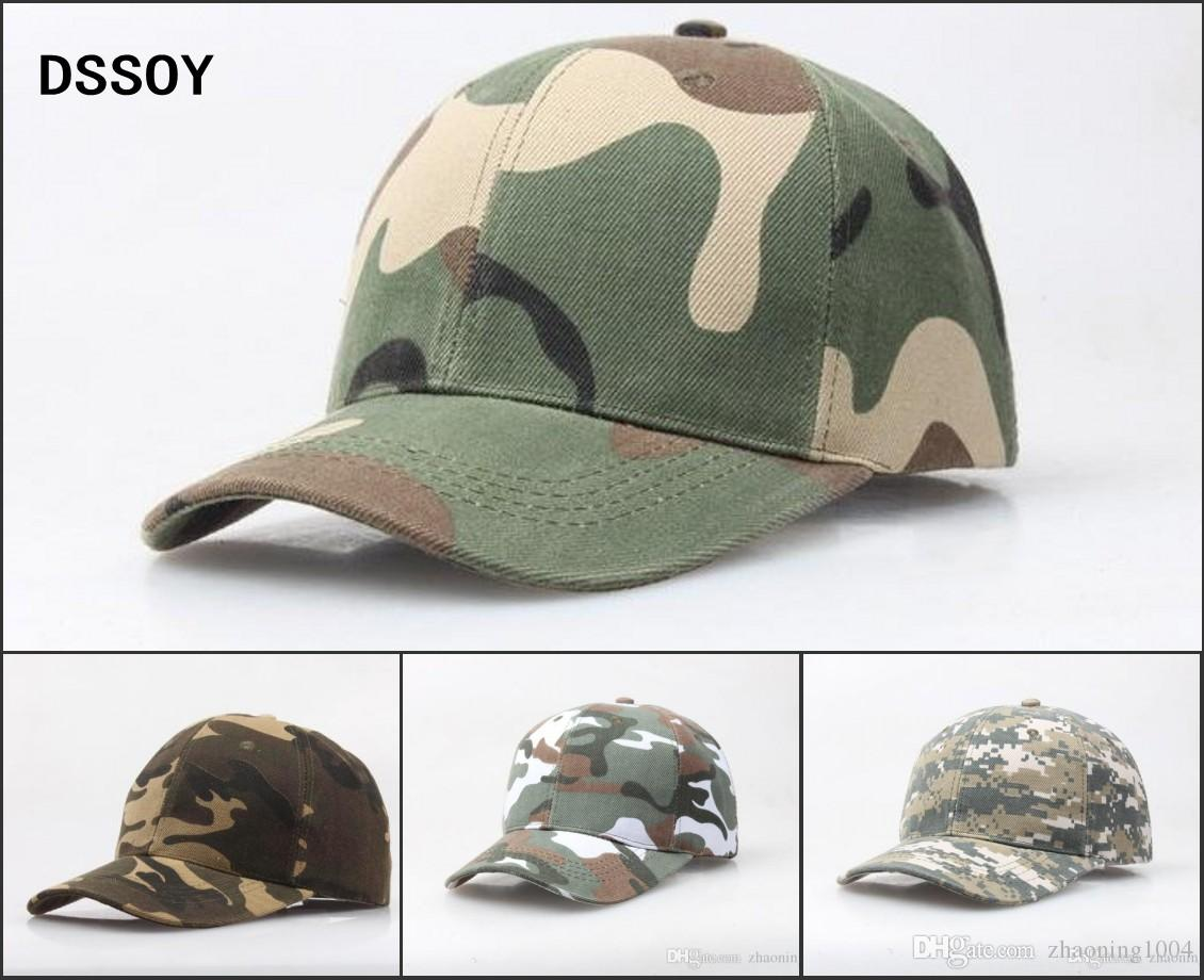 Quality Designer Plain Curved Cotton Army Camouflage Baseball Caps For  Adults Mens Womens Blank Military Hats Spring Summer Sport Sun Visor Caps  For Men ... 60bea9f4d917
