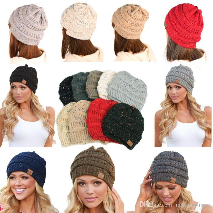 Winter Cc Caps Baseball Adult Warm Knitted Caps Outdoor Sports Hats