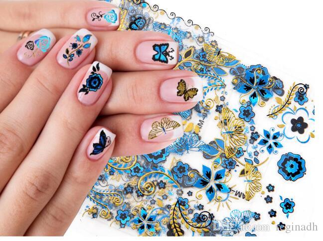 Nail Art Nails Wraps Tip Nail Art Sticker Decal Manicure Leopard grain  color drill nails decals 3 d Bronzing silver stick nail stickers