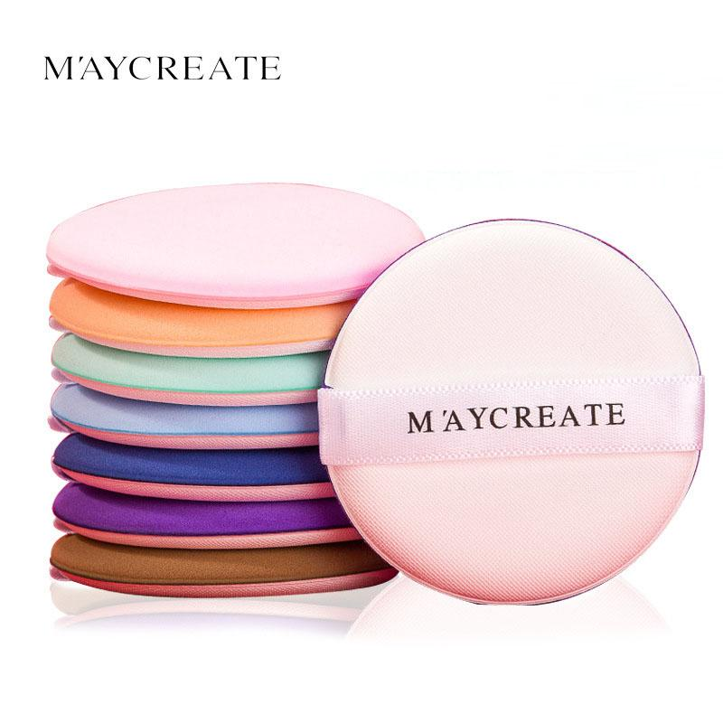 Maycreate 7pcs Lot Makeup Air Cushion Puff Concealer Cosmetic Sponge Puff Women Facial Foundation Round Sponge Soft Powder