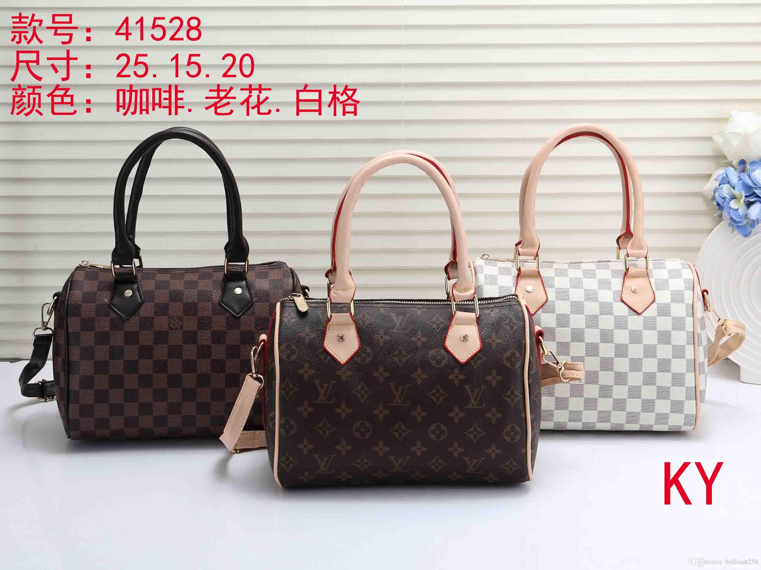 2019 Styles Handbag M Famous Designer Brand Name Fashion Leather Handbags  Women Tote Shoulder Bags Lady Leather Handbags Bags Purse L41528 Leather  Satchel ... dac96b3656b93