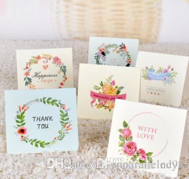 European Creative Flowers Greeting Card Watercolor Blessing Can Be
